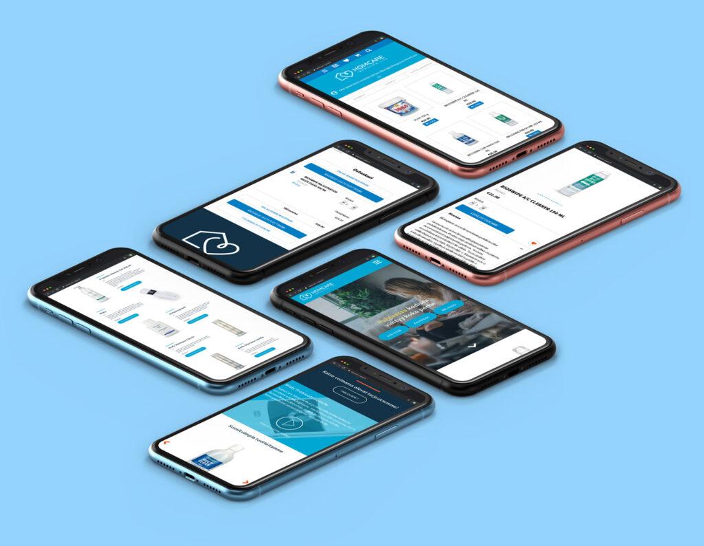 Homcare mobile mockup