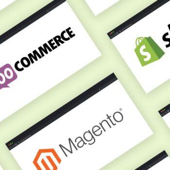 eri verkkokauppa-alustojen logoja